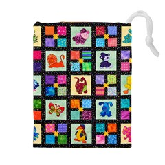 Animal Party Pattern Drawstring Pouches (Extra Large)