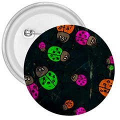 Abstract Bug Insect Pattern 3  Buttons