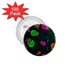 Abstract Bug Insect Pattern 1.75  Buttons (100 pack)