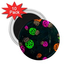 Abstract Bug Insect Pattern 2.25  Magnets (10 pack)