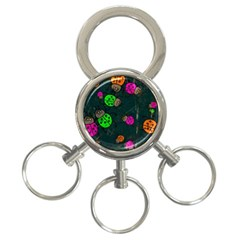 Abstract Bug Insect Pattern 3-Ring Key Chains