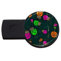 Abstract Bug Insect Pattern USB Flash Drive Round (2 GB)