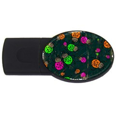 Abstract Bug Insect Pattern USB Flash Drive Oval (4 GB)