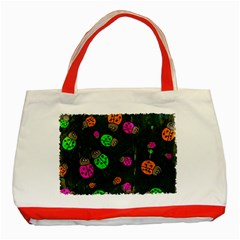 Abstract Bug Insect Pattern Classic Tote Bag (Red)