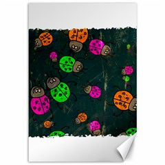 Abstract Bug Insect Pattern Canvas 12  x 18