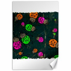 Abstract Bug Insect Pattern Canvas 24  x 36
