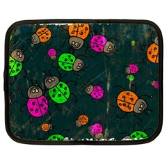 Abstract Bug Insect Pattern Netbook Case (XL)