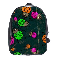 Abstract Bug Insect Pattern School Bags(Large)