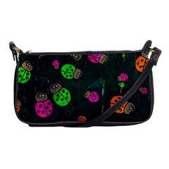 Abstract Bug Insect Pattern Shoulder Clutch Bags