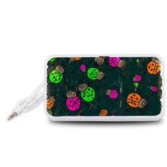 Abstract Bug Insect Pattern Portable Speaker (White)