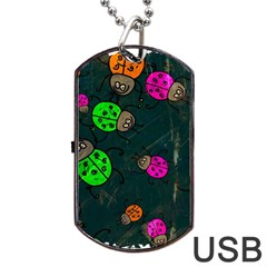 Abstract Bug Insect Pattern Dog Tag USB Flash (Two Sides)
