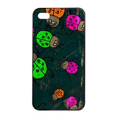 Abstract Bug Insect Pattern Apple iPhone 4/4s Seamless Case (Black)