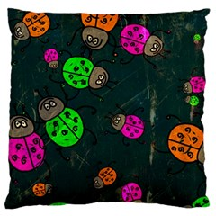 Abstract Bug Insect Pattern Large Cushion Case (One Side)