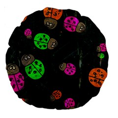 Abstract Bug Insect Pattern Large 18  Premium Round Cushions