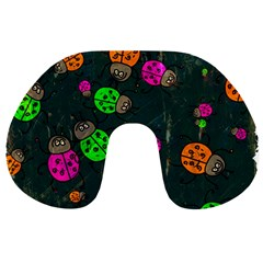 Abstract Bug Insect Pattern Travel Neck Pillows