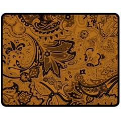 Art Traditional Batik Flower Pattern Fleece Blanket (Medium)