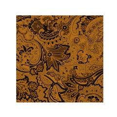 Art Traditional Batik Flower Pattern Small Satin Scarf (Square)