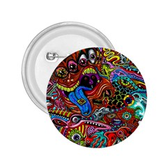 Art Color Dark Detail Monsters Psychedelic 2.25  Buttons