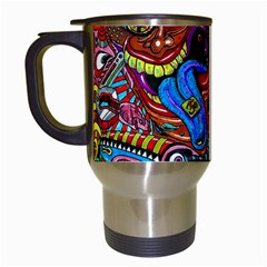 Art Color Dark Detail Monsters Psychedelic Travel Mugs (White)