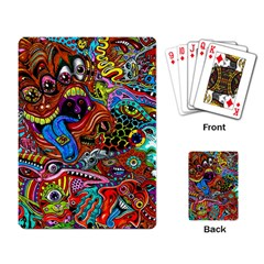 Art Color Dark Detail Monsters Psychedelic Playing Card