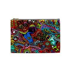 Art Color Dark Detail Monsters Psychedelic Cosmetic Bag (Medium)