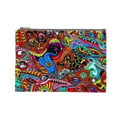 Art Color Dark Detail Monsters Psychedelic Cosmetic Bag (Large)