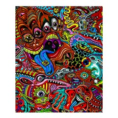 Art Color Dark Detail Monsters Psychedelic Shower Curtain 60  x 72  (Medium)
