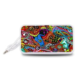 Art Color Dark Detail Monsters Psychedelic Portable Speaker (White)