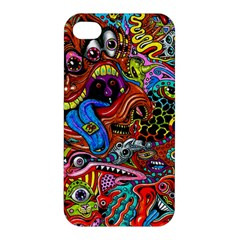 Art Color Dark Detail Monsters Psychedelic Apple iPhone 4/4S Premium Hardshell Case