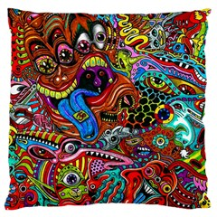 Art Color Dark Detail Monsters Psychedelic Large Cushion Case (Two Sides)