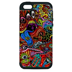 Art Color Dark Detail Monsters Psychedelic Apple iPhone 5 Hardshell Case (PC+Silicone)