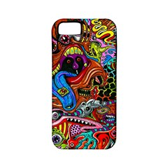 Art Color Dark Detail Monsters Psychedelic Apple iPhone 5 Classic Hardshell Case (PC+Silicone)