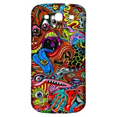 Art Color Dark Detail Monsters Psychedelic Samsung Galaxy S3 S III Classic Hardshell Back Case