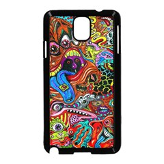 Art Color Dark Detail Monsters Psychedelic Samsung Galaxy Note 3 Neo Hardshell Case (Black)