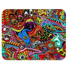 Art Color Dark Detail Monsters Psychedelic Double Sided Flano Blanket (Medium)