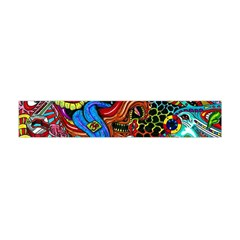 Art Color Dark Detail Monsters Psychedelic Flano Scarf (Mini)