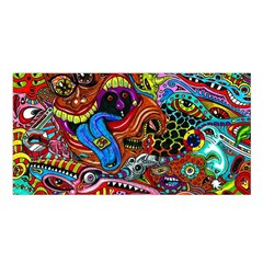 Art Color Dark Detail Monsters Psychedelic Satin Shawl