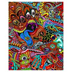 Art Color Dark Detail Monsters Psychedelic Drawstring Bag (Small)