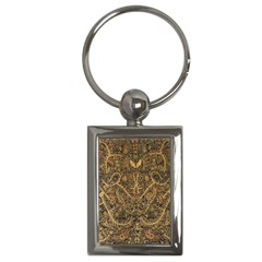 Art Indonesian Batik Key Chains (Rectangle)