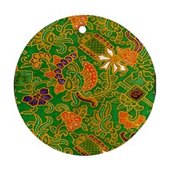 Art Batik The Traditional Fabric Round Ornament (Two Sides)