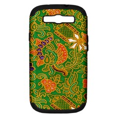 Art Batik The Traditional Fabric Samsung Galaxy S III Hardshell Case (PC+Silicone)