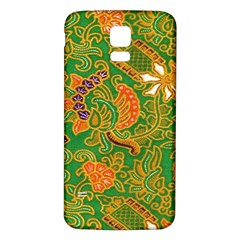 Art Batik The Traditional Fabric Samsung Galaxy S5 Back Case (White)