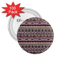Aztec Pattern Art 2.25  Buttons (100 pack)