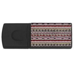 Aztec Pattern Art USB Flash Drive Rectangular (1 GB)