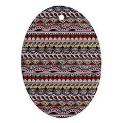 Aztec Pattern Art Oval Ornament (Two Sides)