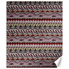 Aztec Pattern Art Canvas 8  x 10