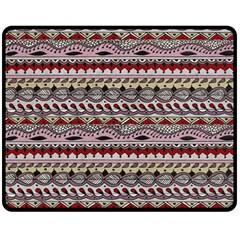 Aztec Pattern Art Double Sided Fleece Blanket (Medium)