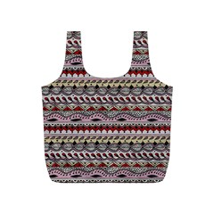 Aztec Pattern Art Full Print Recycle Bags (S)
