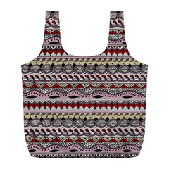 Aztec Pattern Art Full Print Recycle Bags (L)