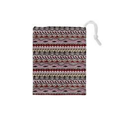 Aztec Pattern Art Drawstring Pouches (Small)